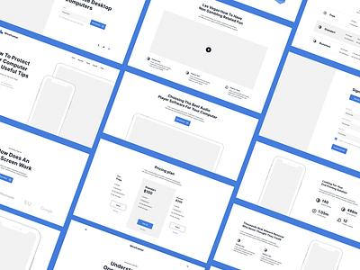 Wireframer Web Kit II website web ux ui typography minimal flat design concept app