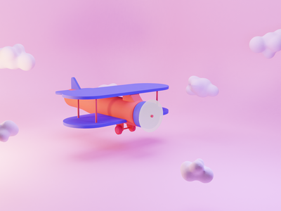 Plane blender 3d illustration3d illustration plane france nantes odindesign blender3d blender
