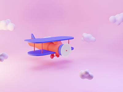 Plane blender 3d illustration3d illustration plane france nantes odindesign blender3d blender