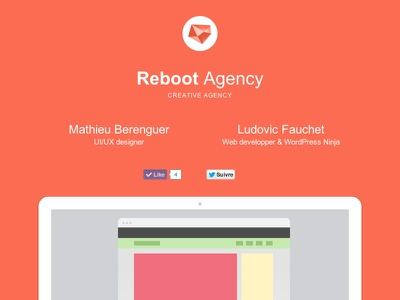 Reboot Agency - Landing page reboot agency landing page mathieu ludovic ui ux odin