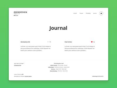 Odindesign Journal webdesign mathieu ludovic fauchet ux ui nantes journal design odin
