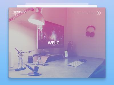 Odindesign Home welcome france nantes retina website odin mathieu
