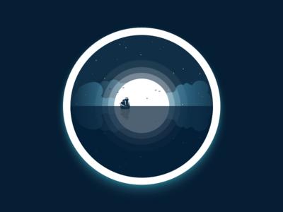Moon badge