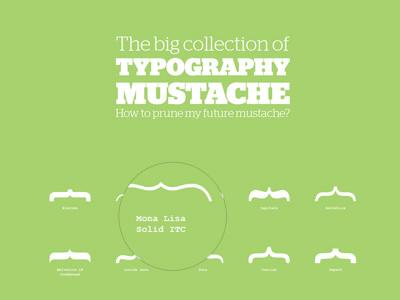 Typography Mustache mustache typo typography design mathieubrg france