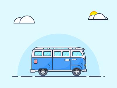 Van volkswagen france nantes illustration mathieu odin odin design