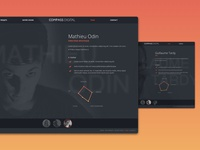 Compass Digital | Website clean branding ui odin design nantes paris digital france group compass