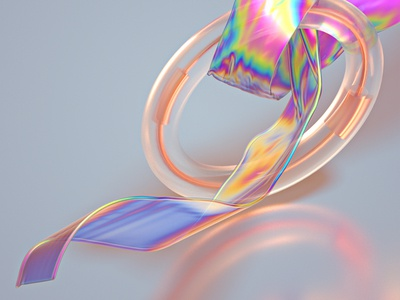 Translucent Irisdecent #03 machineast torus ring ice cold hologram rainbow iridescent translucent