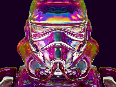 Not so dark side after all? iridescent rainbow army darth vader trooper jedi dark side march imperial star wars stormtrooper