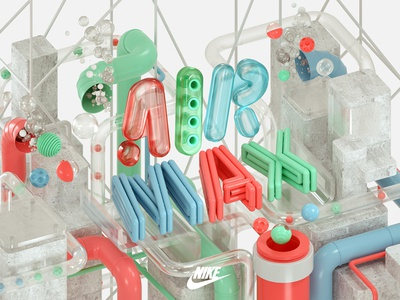 NIKE Air Max Day 2016 3d typography design machineast sneakers shoes sports 2016 day max air nike