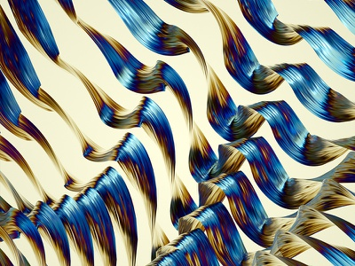 Gelombang 02 wave rainbow personal machineast iridescent illustration digital colors artwork art 3d