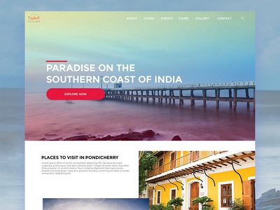 #Daily UI/UX - Tourism Website