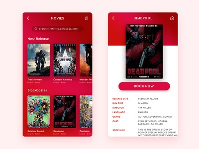 #Daily UI - Movie booking App