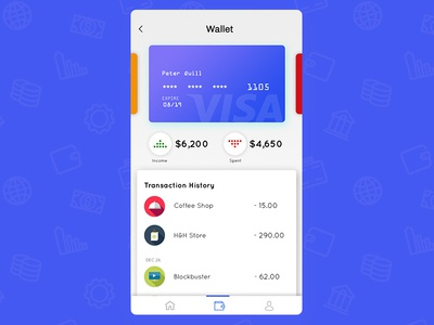 #Daily UI - Wallet App