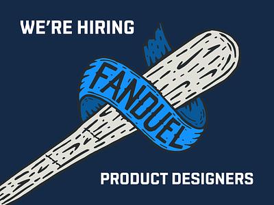 We're hiring at FanDuel! product design sports fanduel jobs hiring