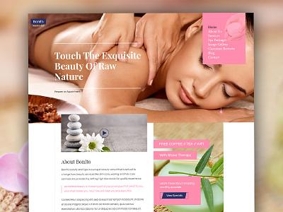 Beauty Saloon & Spa Web Template woman website design ux ui shop spa saloon portfolio makeup homepage facial beauty