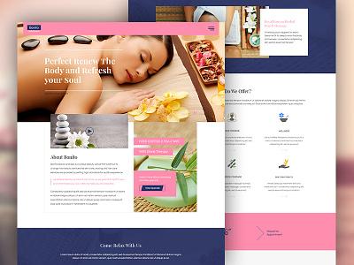Beauty Saloon & Spa woman website design ux ui spa shop saloon portfolio makeup homepage facial beauty