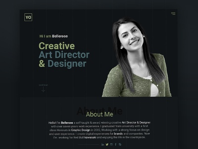 YO - Portfolio Template website web psd template flat creative personal personal website portfolio web resume template portfolio