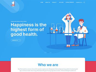 Website design for Onepharma web trend ui design ux design web template template illustration web pharma medicine website pharmaceutical