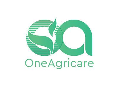 Oneagricare-Logo social agricltur agricare flower nature branding icon illustration logo logo design mascot design ux ui