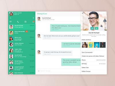 Desktop Chat Application illustration desktop mail chat application desktop chat app profile notification web ux ui sms messenger messaging interface desktop conversation chat application app
