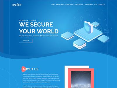Oneict Homepage type web webdesign website ux ui illustration graphic flat digital design creative concept color clean