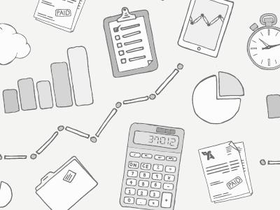 Pattern Experiment illustration pattern calculator ipad clock pie check list graph folder