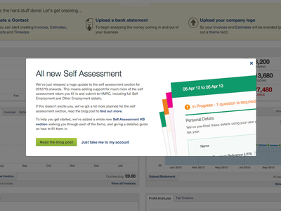 Launched Self Assessment Update self assessment update launch tax return