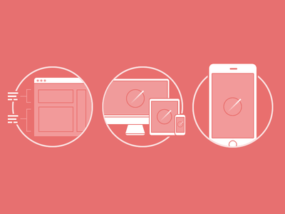 Service Icons icons flat device services mobile illustration responsive app web
