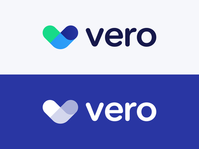 Visual Rebrand - Vero 2021 components connection fold messaging email marketing startup b2b saas indentity logo branding
