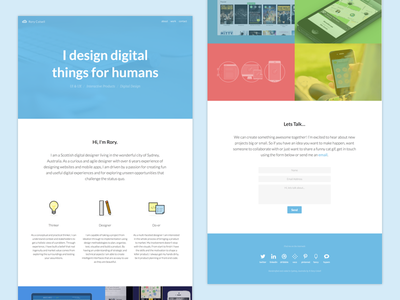 Redesigned my website! Woohoo! website portfolio colourful icons digital design responsive one page