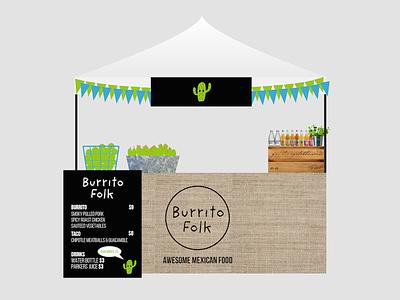 Burrito market stand design market stand mexican