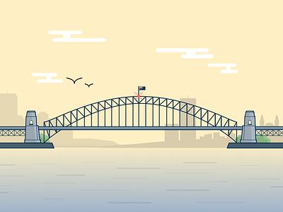I ♥ Sydney sydney harbour bridge illustration australia