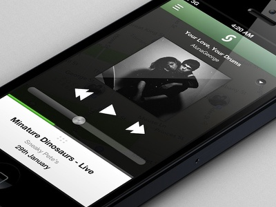 Soundscape Music Player music player volume album art event iphone app soundscape navigation map audio ui ios