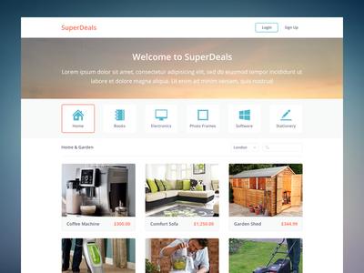 SuperDeals ikons ui clean flat practice simple web deals