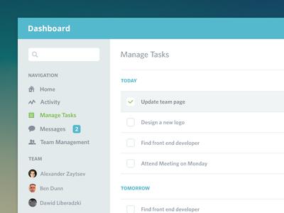Dashboard ui clean flat admin team dashboard ikons