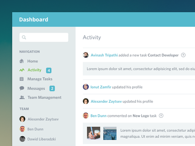 Dashboard Activity