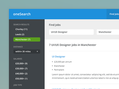 Jobs App app jobs clean ui