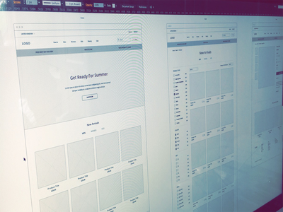 Wireframes illustrator ux wireframes website ecommerce