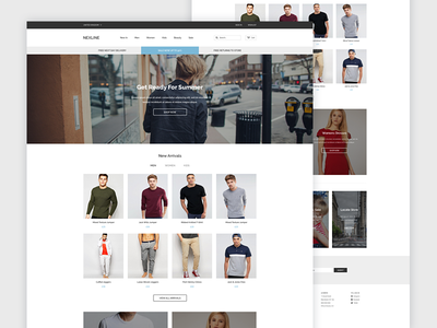 NEXLINE Homepage WIP clean ui website ecommerce