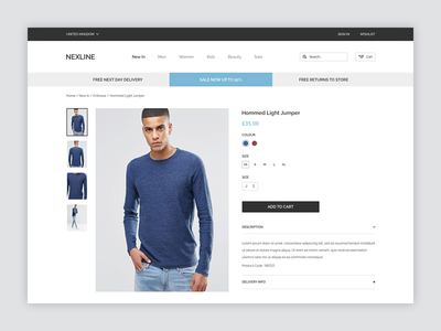 Product Page page product clean ui website ecommerce