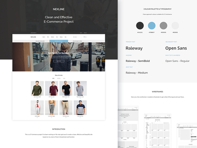 NEXLINE Case Study case study clean ui website ecommerce