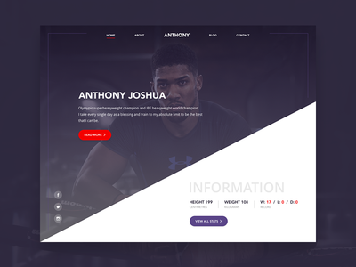 Homepage WIP boxing web clean ui