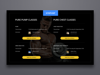 Gym Pump app gym clean ui