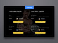 Gym Pump app gym clean ui