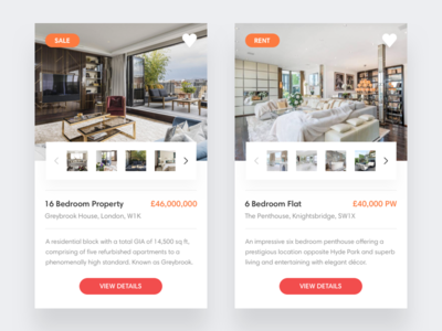 Property practice design clean ux ui