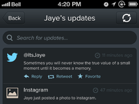 Updatesscreen