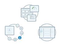 Graphic concept for CRM software