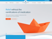Website concept for depression treatment