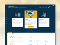Insurance Productivity Dashboard concept