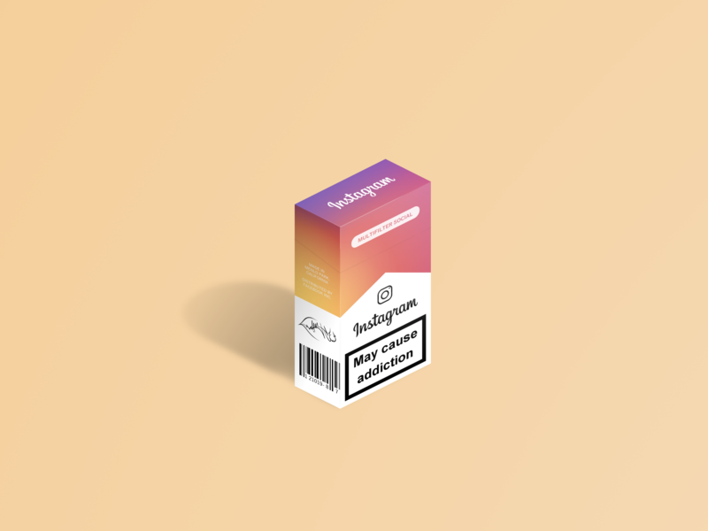 May Cause Addiction #2 social instagram colors cigarettes cigarette isometric gradient gimp